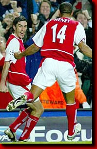 robert pires scores against Chelsea...