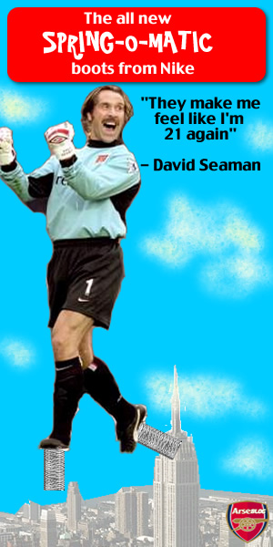 Arseblog - David Seaman's new boots....