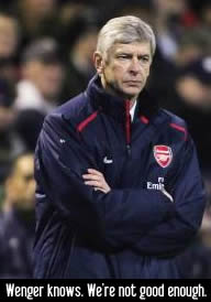 Arsene Wenger looks as happy as I feel..